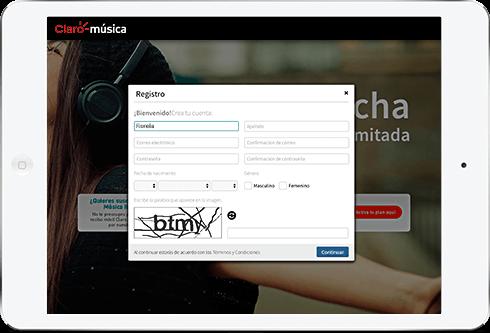 Registra tus datos, correo y contraseña