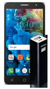 Alcatel OT5056A POP 4 Plus + Cargador portatil Conectados