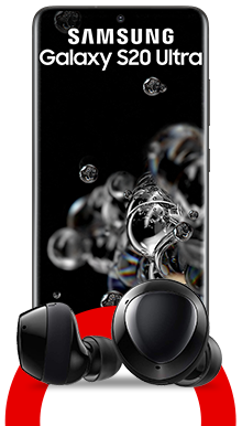 Samsung Galaxy S20 Ultra + Galaxy Buds+