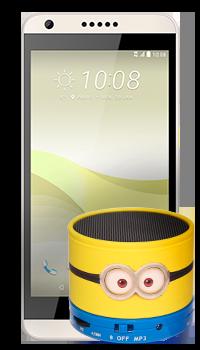 HTC Desire 650 + parlante Minions