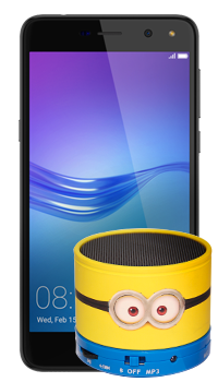 Huawei Y5 2017 + parlante Minions