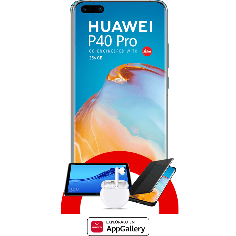 Huawei P40 Pro 256 GB + Tablet + Cover + Audífonos
