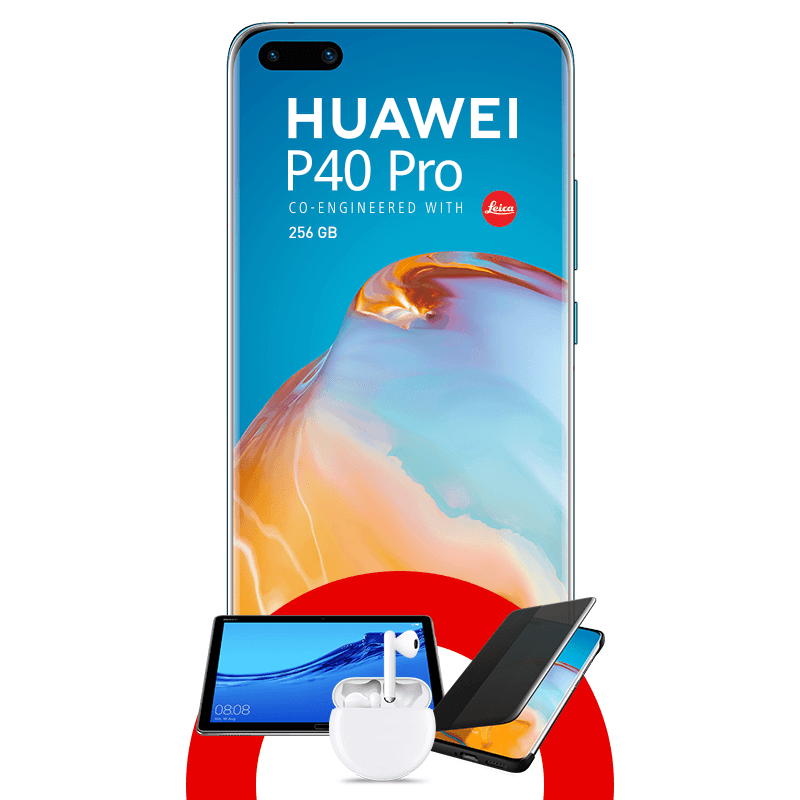 Huawei P40 Pro 256 GB + Tablet Huawei MediaPad M5 + FreeBuds 3 + Case Flip Cover