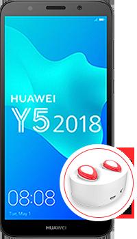 Huawei Y5 2018 + Audífonos bluetooth