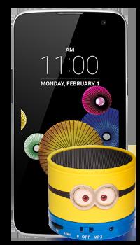 LG K4 K120F + parlante Minions