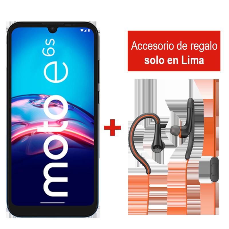Motorola Moto E6s 32GB + Audífonos Earbuds