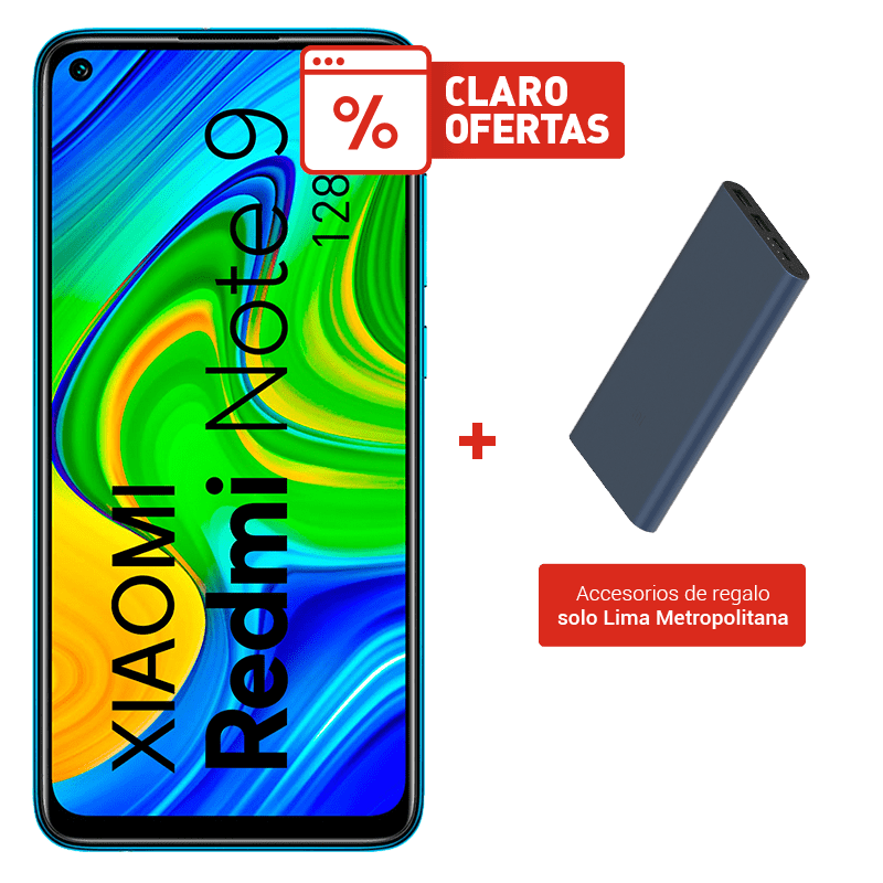 Xiaomi Redmi Note 9 128GB + Power Bank