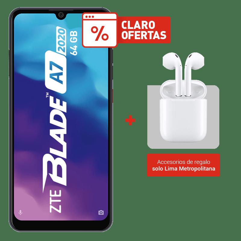 ZTE Blade A7 2020 64GB + Audífonos I11 TWS