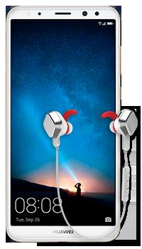 Huawei Mate 10 Lite + audífonos