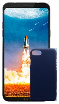 LG Q6 + Case