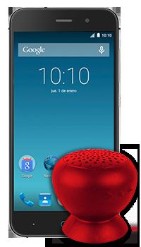 ZTE V6 + Parlante Bluetooth Conectados