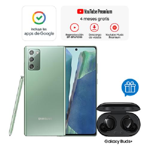 Samsung Celular Galaxy Note 20 Verde + Buds+ Black