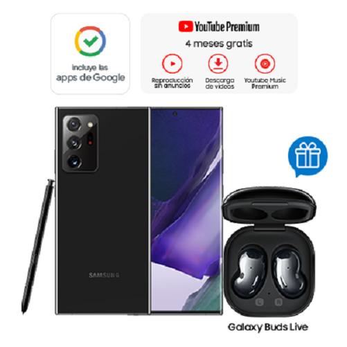 Samsung Celular Galaxy Note 20 Ultra Negro + Buds Live Negros