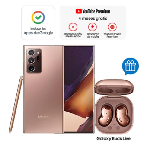 Samsung Celular Galaxy Note 20 Ultra Bronce + Buds Live Bronce