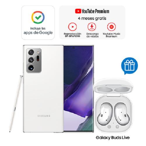 Samsung Celular Galaxy Note 20 Ultra Blanco + Buds Live Blanco