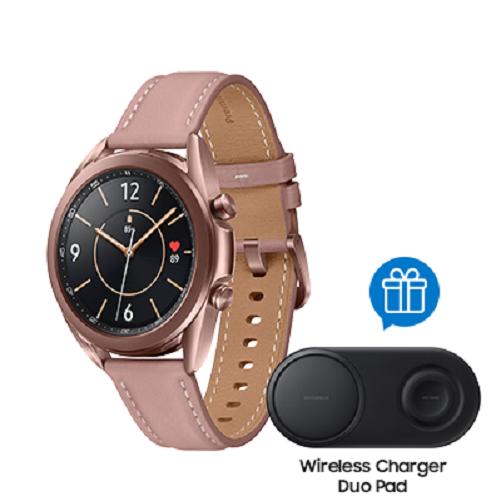 Samsung Smartwatch Samsung Galaxy Watch3 41mm Gold + W Charger Duo