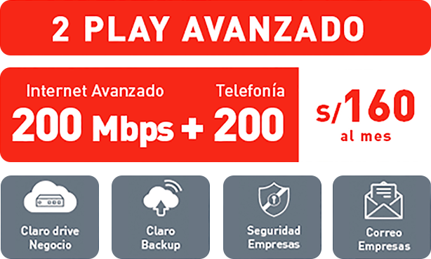 Claro 2 Play 60Mbps | Internet + Telefonía