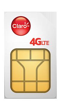 Claro Chip Postpago 4G LTE
