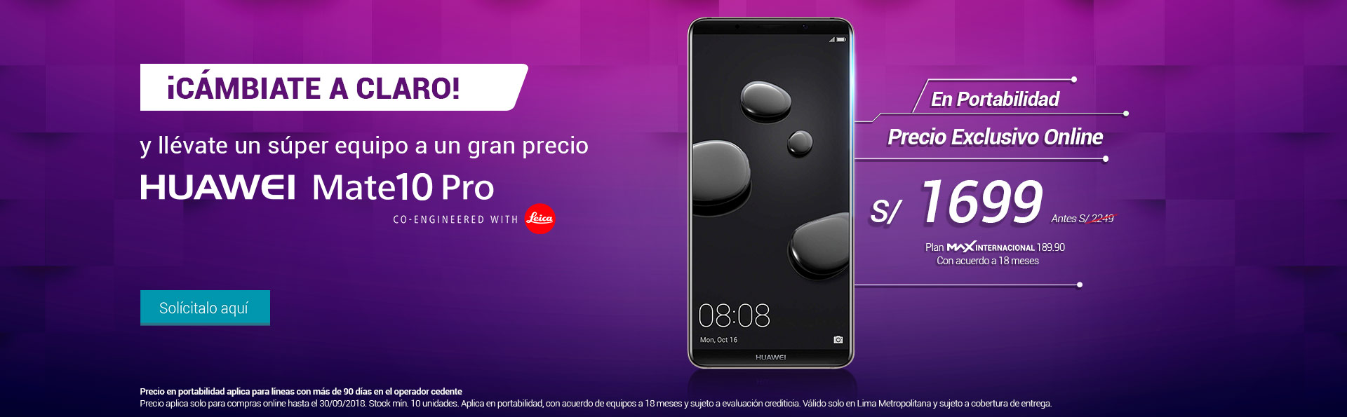 HuaweiMate10Pro_PrecioExclusivoOnline_050918