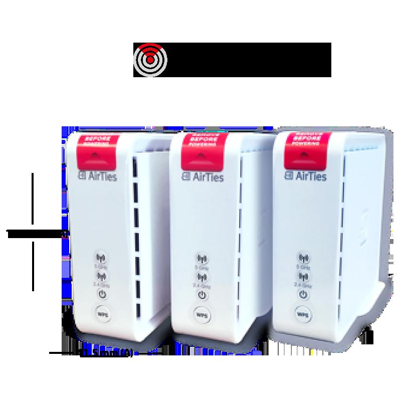 AirTies Kit Avanzado Airties soportan velocidades mayores a 100Mbps