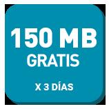 100 MB Gratis por 3 días